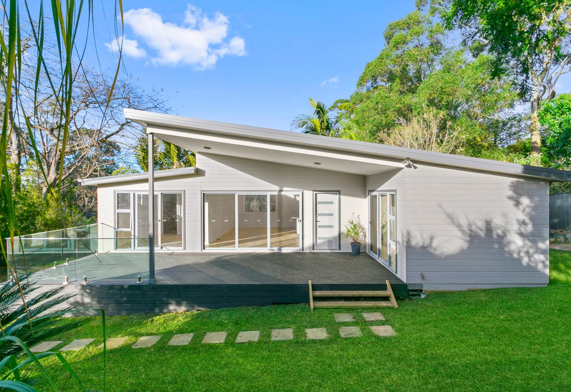 granny flat with sloped roof
