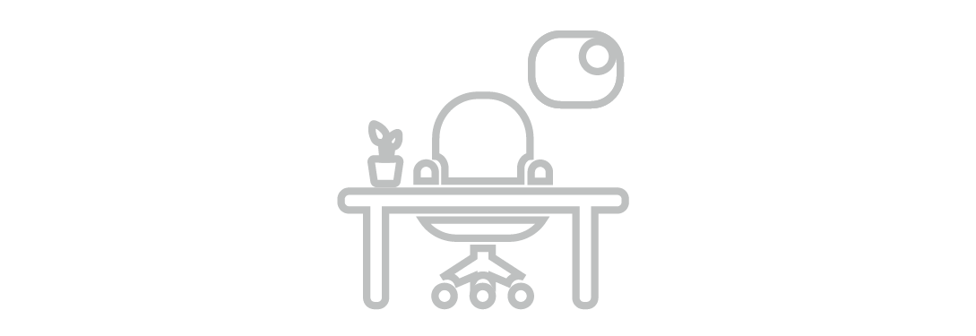 desk and office chair icon